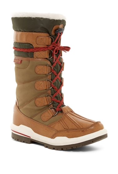 Incaltaminte Femei Aquatherm by Santana Canada Igloo Waterproof Faux Fur Tall Boot TAN PU