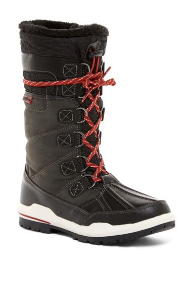 Incaltaminte Femei Aquatherm by Santana Canada Igloo Waterproof Faux Fur Tall Boot BLACK PU