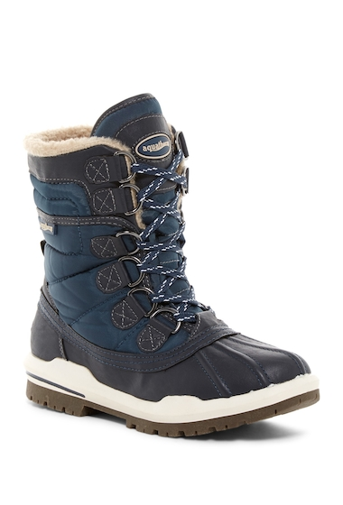 Incaltaminte Femei Aquatherm by Santana Canada Camp Waterproof Faux Shearling Mid Boot NAVY PU