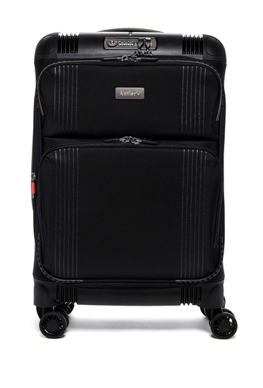 Genti Femei Antler Titus DLX Expandable Carry-On Case BLACK