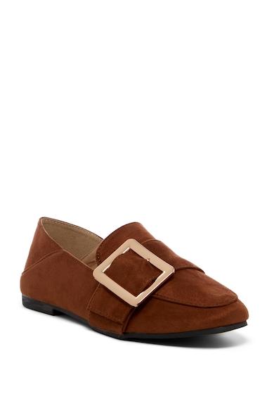 Incaltaminte Femei ANNA Evie Buckled Loafer Flat CAMEL