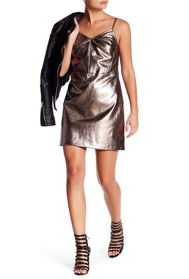 Imbracaminte Femei 1State Metallic Faux Leather Dress SILVER FOI