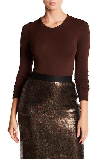 Imbracaminte Femei Tibi Seamless Mini Sweater AMBER BROWN MEL