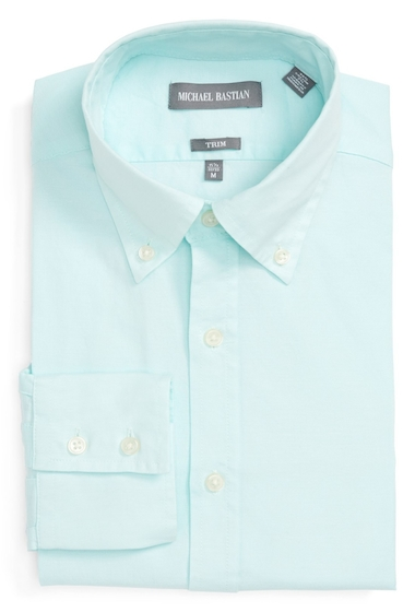 Imbracaminte Barbati MICHAEL BASTIAN Oxford Trim Fit Dress Shirt MINT