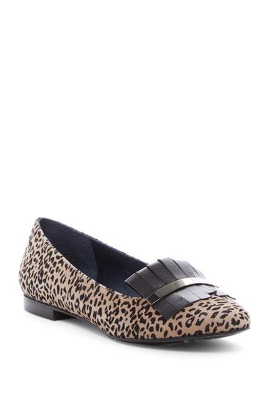 Incaltaminte Femei Armani Collezioni Leopard Print Kiltie Flat BEIGE