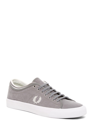 Incaltaminte Barbati Fred Perry Kendrick Tipped Cuff Brushed Cotton Sneaker FALCON GREY