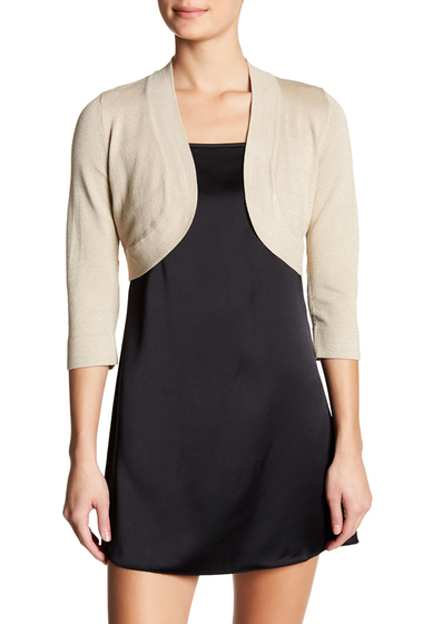 Imbracaminte Femei Eliza J Shimmer Cover-Up Cardigan TAUPE