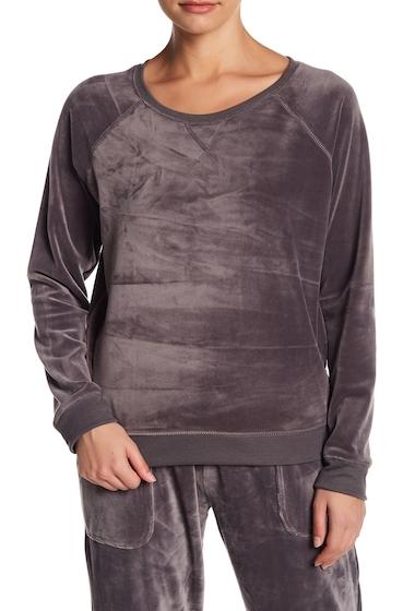 Imbracaminte Femei Free Press Velour Crew Neck Sweater GREY EXCALIBUR