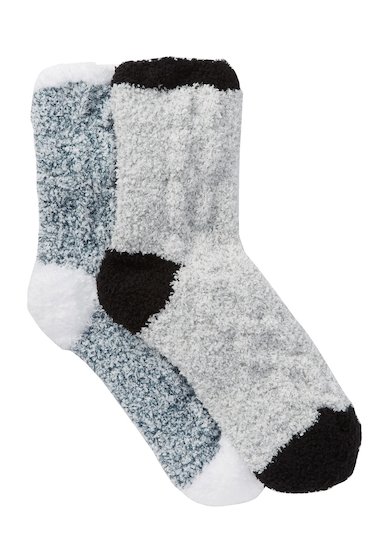 Accesorii Femei Free Press Plush Cable Knit Colorblocked Cozy Socks - Pack of 2 NAVY PEACOAT