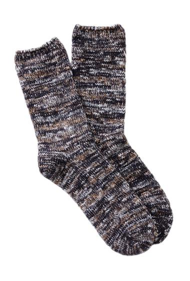 Accesorii Femei Free Press Space Dye Slub Crew Socks BLACK