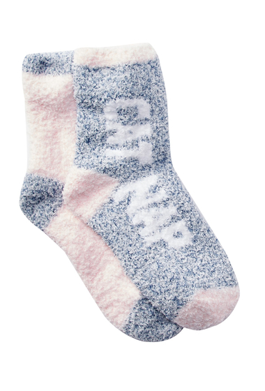 Accesorii Femei Free Press Patterned Fuzzy Socks - Pack of 2 PINK CAKE HEATHER CAT NAP