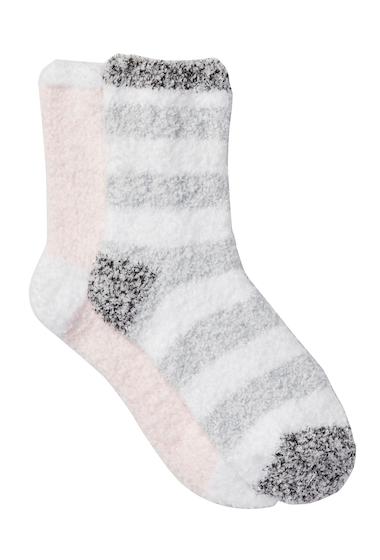 Accesorii Femei Free Press Patterned Micro Crew Fuzzy Socks - Pack of 2 PINK CAKE HEATHER