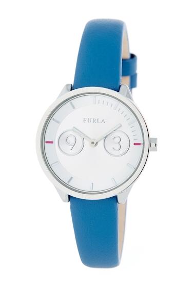Ceasuri Femei Furla Womens Metropolis Leather Strap Watch 31mm BLUE