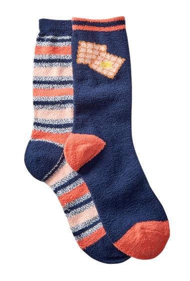 Accesorii Femei Free Press Chamois Crew Socks - Pack of 2 WAFFLES