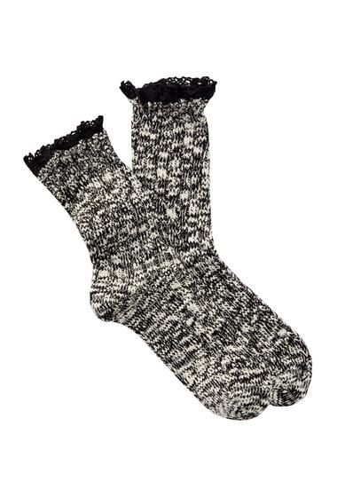 Accesorii Femei Free Press Knit Crochet Crew Socks BLACK