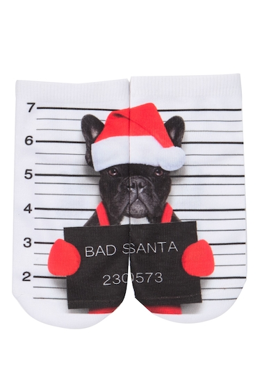 Accesorii Femei Free Press No Show Sublimation Low-Cut Socks BAD SANTA FRENCHIE