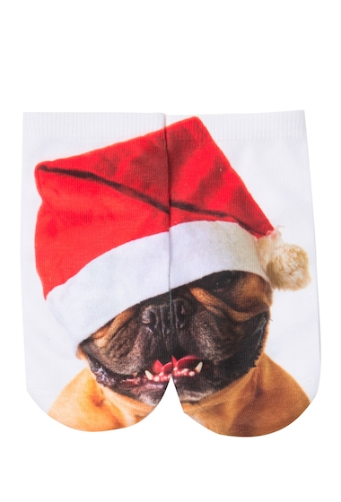 Accesorii Femei Free Press No Show Sublimation Low-Cut Socks SANTA HAT FRENCHIE