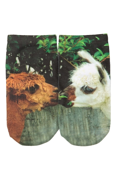 Accesorii Femei Free Press No Show Sublimation Low-Cut Socks KISSING ALPACAS
