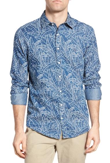 Imbracaminte Barbati Gant Indigo Leaf Print Fitted Sport Shirt INDIGO