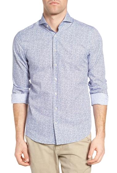 Imbracaminte Barbati Gant Action Art Print Fitted Sport Shirt HAMPTONS BLUE
