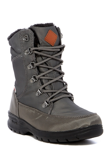 Incaltaminte Femei Kamik Bronx Faux Fur Lined Waterproof Nylon Boot CHARCOAL