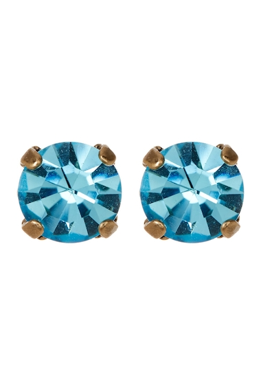 Bijuterii Femei Loren Hope Samantha Crystal Stone Stud Earrings AQUAMARINE