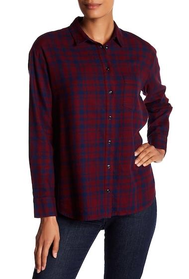 Imbracaminte Femei Madewell Oversized Flannel Ex Boyfriend Shirt BURGUND-NAVY MCKINNEY PLAID