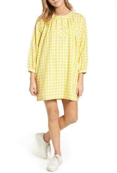 Imbracaminte Femei Madewell Willow Gingham Tunic Dress FERNDALE YELLOW