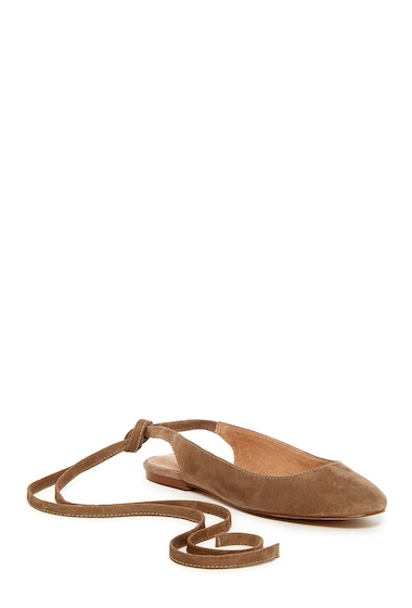 Incaltaminte Femei Madewell April Ankle Wrap Flat OTTER