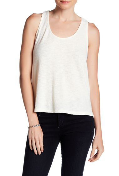 Imbracaminte Femei Madewell Everly Twist Back Jacquard Tank BRIGHT IVORY