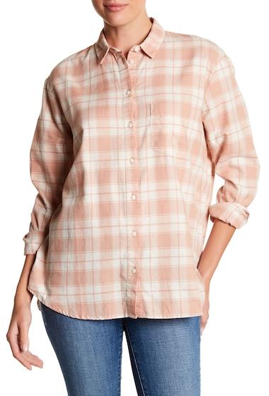 Imbracaminte Femei Madewell Oversized Flannel Ex Boyfriend Shirt IVORY-PINK DANVILLE PLAID