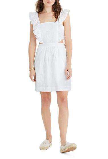 Imbracaminte Femei Madewell Leilani Eyelet Apron Dress EYELET WHITE