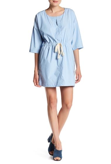 Imbracaminte Femei Madewell Striped Drawstring Dress POWDER BLUE