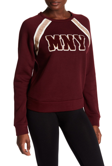 Imbracaminte Femei Marc New York Varsity Fleece Sweatshirt BURGUNDY