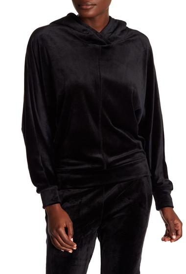 Imbracaminte Femei Marc New York Velvet Dolman Sleeve Boxy Hoodie BLACK