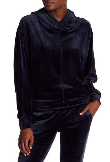Imbracaminte Femei Marc New York Velvet Dolman Sleeve Boxy Hoodie STORMY NIGHT