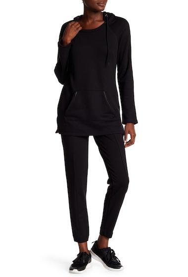 Imbracaminte Femei Marc New York Faux Leather Trim Jogger Pants BLACK