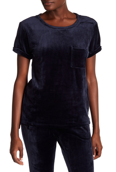 Imbracaminte Femei Marc New York Velvet Crew Neck Tee STORMY NIGHT