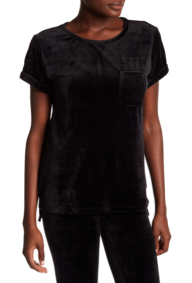 Imbracaminte Femei Marc New York Velvet Crew Neck Tee BLACK