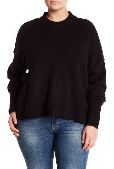Imbracaminte Femei Melrose and Market Cherish Mock Neck Sweater Plus Size BLACK