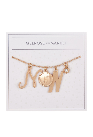 Bijuterii Femei Melrose and Market Initial Charm Pendant Necklace N-GOLD