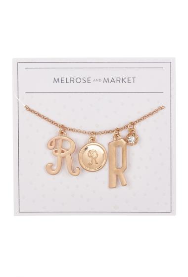 Bijuterii Femei Melrose and Market Initial Charm Pendant Necklace R-GOLD
