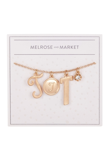 Bijuterii Femei Melrose and Market Initial Charm Pendant Necklace T-GOLD