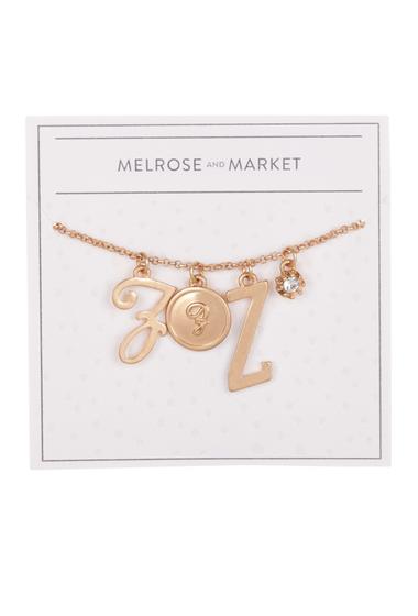Bijuterii Femei Melrose and Market Initial Charm Pendant Necklace Z-GOLD