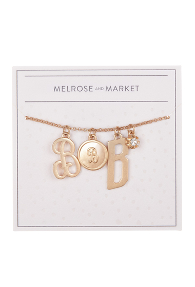 Bijuterii Femei Melrose and Market Initial Charm Pendant Necklace B-GOLD