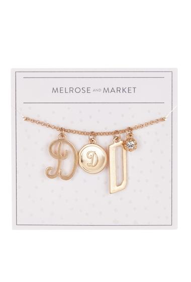 Bijuterii Femei Melrose and Market Initial Charm Pendant Necklace D-GOLD