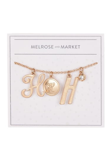 Bijuterii Femei Melrose and Market Initial Charm Pendant Necklace H-GOLD