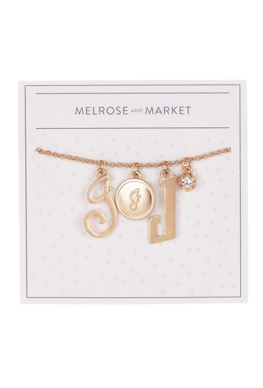 Bijuterii Femei Melrose and Market Initial Charm Pendant Necklace J-GOLD