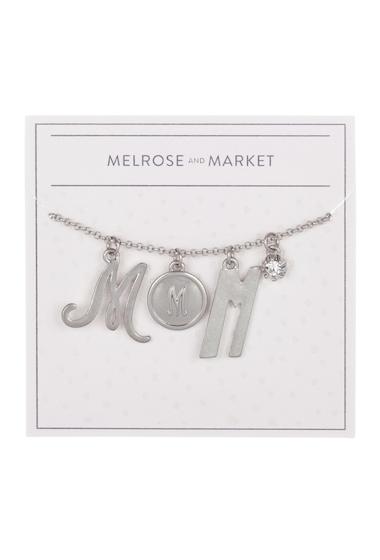 Bijuterii Femei Melrose and Market Initial Charm Pendant Necklace M-RHODIUM