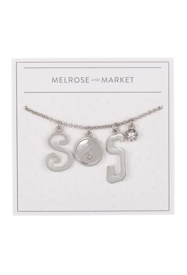 Bijuterii Femei Melrose and Market Initial Charm Pendant Necklace S-RHODIUM